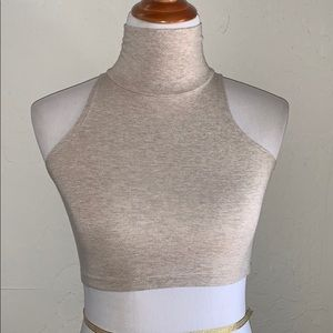 American Apparel Turtle neck crop top size XS